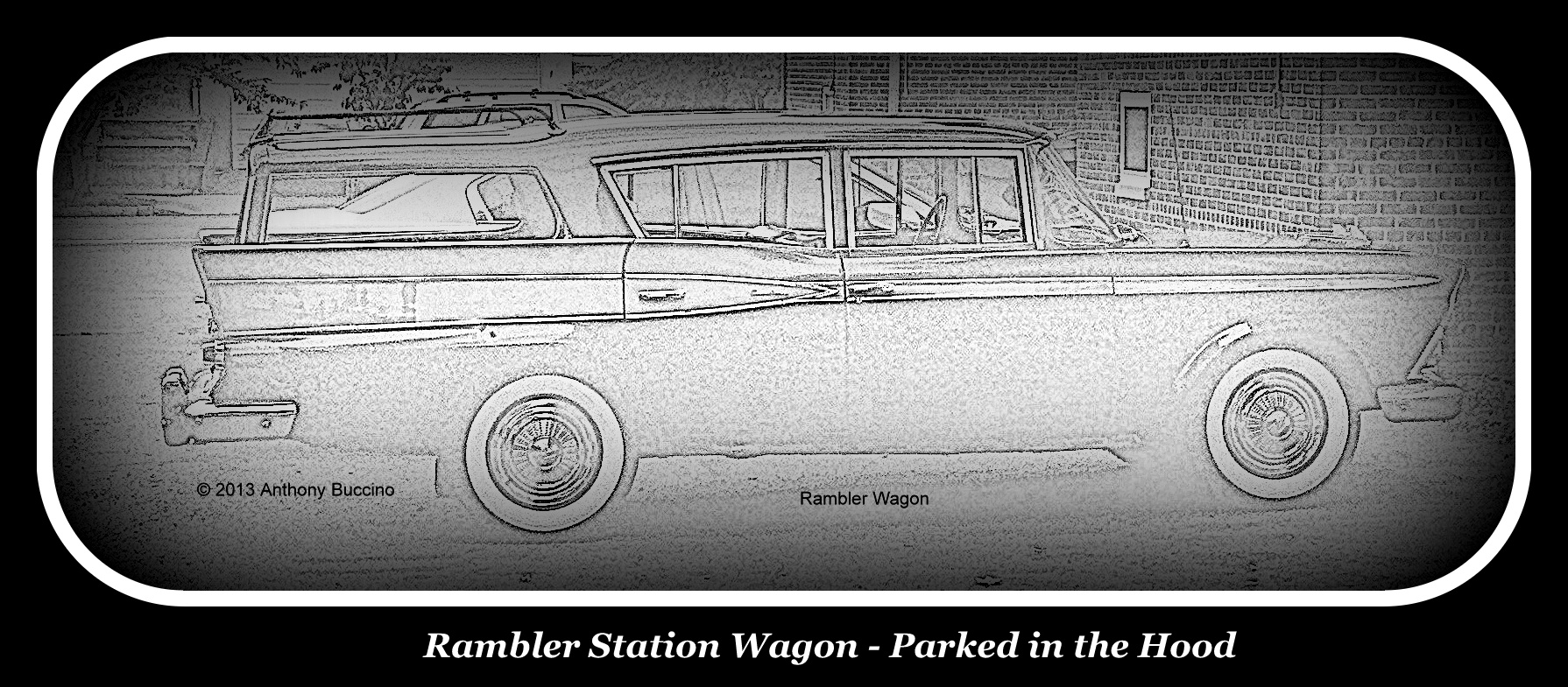 Rambler Station Wagon, pencil-ized, by Anthony Buccino
