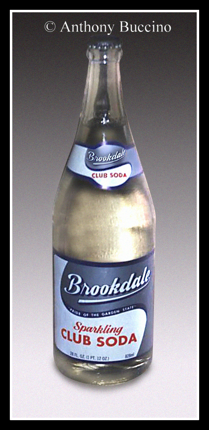 Brookdale soda, club soda bottle, photo copyright Anthony Buccino, All rights reserved.